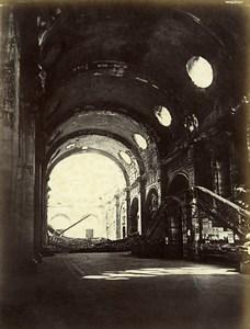 Siege of Paris Commune Ruins Palais de Justice Interior Old Liebert Photo 1871