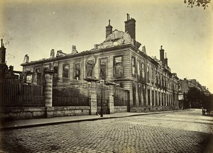 Siege of Paris Commune Ruins Arsenal Old Liebert Photo 1871