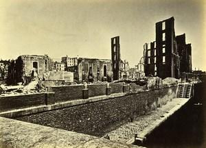Siege of Paris Commune Ruins La Villette Docks Old Liebert Photo 1871