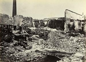 Siege of Paris Commune Ruins Falck Factory La Villette Old Liebert Photo 1871