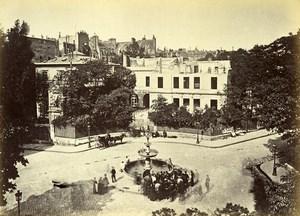 Siege of Paris Commune Ruins Thiers House Ghosts Old Liebert Photo 1871