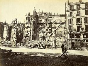 Commune de Paris Ruins rue Royale Old Liebert Photo 1871