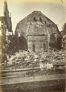Siege of Paris Commune Ruins Theatre Porte St Martin Old Liebert Photo 1871