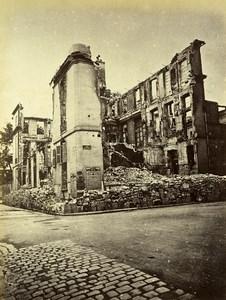 Commune de Paris Ruins rue de Lille Marquis de Villeneuve Old Liebert Photo 1871