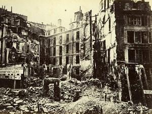Commune de Paris Ruins Croix Rouge Junction Cherche Midi Old Liebert Photo 1871