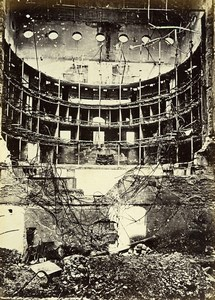 Siege of Paris Commune Ruins Lyric Theatre Lyrique Old Liebert Photo 1871