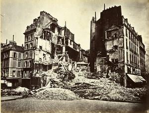 Siege of Paris Commune Ruins Place de la Bastille Old Liebert Photo 1871