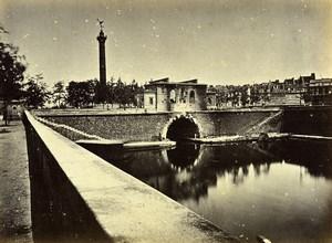 Siege of Paris Commune Ruins Poste caserne de la Bastille Old Liebert Photo 1871