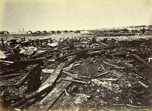 Siege of Paris Commune Ruins Cartoucherie Rapp Explosion Old Liebert Photo 1871