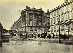 Commune de Paris Ruins Barricade des Federes rue de Rivoli Liebert Photo 1871