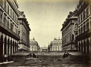 Commune de Paris Barricade des Federes rue Castiglione Old Liebert Photo 1871