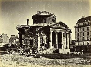 Commune de Paris Ruins Rotunda Barriere du Combat Old Liebert Photo 1871