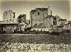 Siege of Paris Commune Ruins le Point du Jour Old Liebert Photo 1871