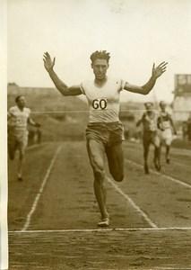 Cologne Athlétisme Moulines bat le record de France du 400M Ancienne Photo 1930