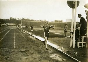 France Athlétisme Arrivée d'une Course a Pied Ancienne Photo 1925