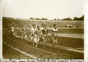 France Athlétisme Stade Pershing Guillemot gagne le 3000M Ancienne Photo 1925