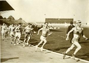 France Athlétisme Colombes le départ du Marathon Ancienne Photo 1925
