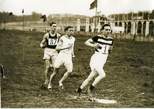 France Athlétisme Bouchard Kolehmainen & Holmer Course Ancienne Photo 1912