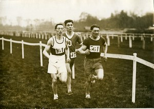 France Athlétisme Course a Pied 3 Coureurs Ancienne Photo 1925