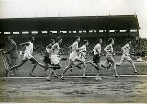 France Athlétisme Colombes Wiriath gagne le 800M Ancienne Photo 1924