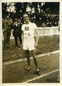 France-England Colombes Athletics Edgar Mountain 800m race winner Photo 1921
