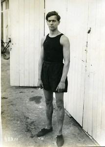 France Parc des Princes Athletics Sport Hans Holmer Old Photo 1914