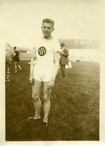France Athlétisme Colombes Hollandais Van den Berg gagne le 100M Ancienne Photo 1925