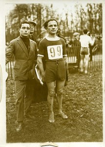 France Athlétisme Louchard gagne le cross de l'Intran Junior Ancienne Photo 1924