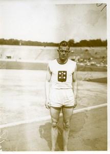 France Athlétisme Portrait d'un Athlete Coureur Ancienne Photo 1925