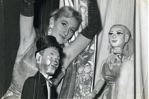 France Jany Privat Puppets Puppeteer Striptease Bar old photo Koruna 1962