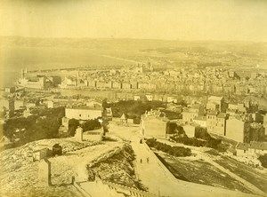 France Marseille Panorama et Arenes d'Arles Ancienne Photo 1890