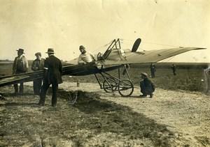 France Aviation Airplane Deperdussin B Prevost? Pilot Old Photo 1911