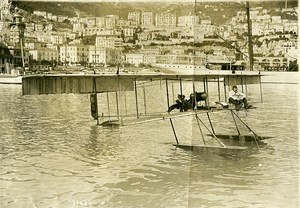 Monaco? Aviation Farman Seaplane Jules Fischer? Old Branger Photo 1912