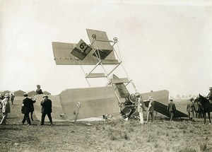 France Betheny Aviation Louis Breguet Accident Old Branger Photo August 1909
