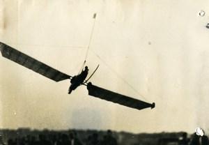 France? Aviation Glider in Flight Old Press Photo 1930