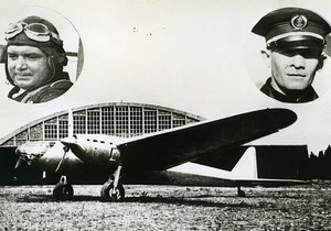 France Aviation Rossi & Emont on Amiot 370 airplane Old Photo 1937