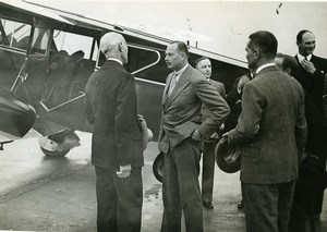 France Duke of Gloucester arriving at Le Bourget Aviation Old Photo 1930's
