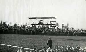 Belgium Brussels Stockel Aviation Farman or Sommer Biplane Old Photo 1910