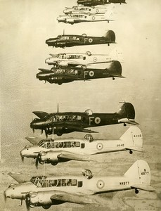Australie? WWII Aviation Bombardiers Avro Anson Entrainement Ancienne Photo 1940