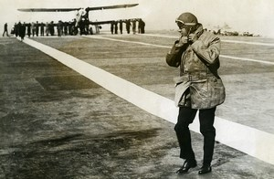 United Kingdom Prince of Wales on Courageous aircraft carrier Old Photo 1932