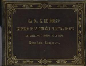 Argentina Buenos Aires Compania Primitiva de Gas Album Photo Demarchi 1890
