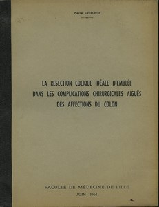 Lille Science Medicine Pierre Delporte Affections Colon Thesis & 5 Photos 1964