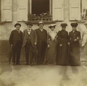 France Niederbronn Groupe 6 anciennes photos amateur 1902