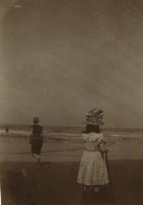 Belgique Blankenberghe & Ostende Cabines de Plage 7 anciennes photos amateur 1902