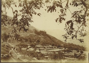 Morocco near Marrakech Castle Hills Countryside Old Photo Felix 1915