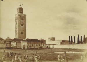 Morocco Marrakech Koutoubia Mosque Old Photo Felix 1915