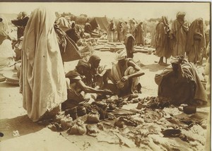 Morocco Marrakech Jemaa el-Fnaa Square Market Scene Old Photo Felix 1915