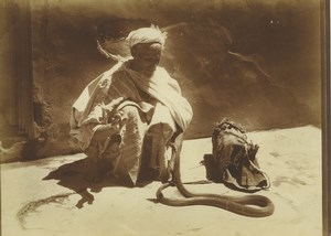 Morocco Marrakech Snake Charmer Serpent Old Photo Felix 1915