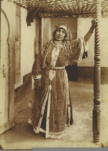 Morocco Marrakech Woman Traditional Costume Old Photo Felix 1915