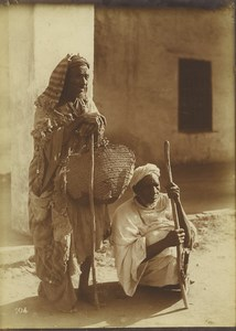 Morocco Marrakech old Men Blind? Beggars? Old Photo Felix 1915